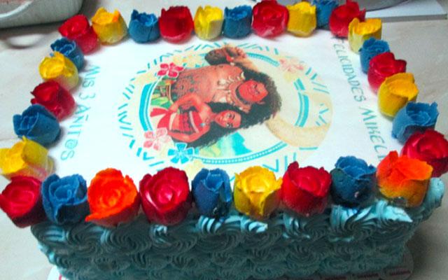 torta especial arequipa para niña foto moana