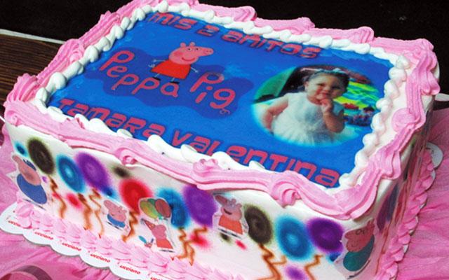 Tortas especiales arequipa foto niña peppa pig