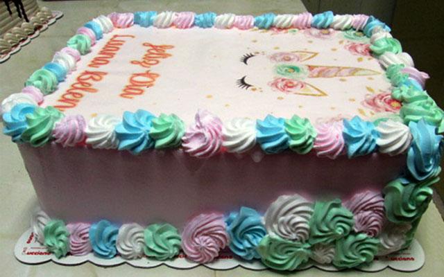 torta especial arequipa para niña foto unicornio