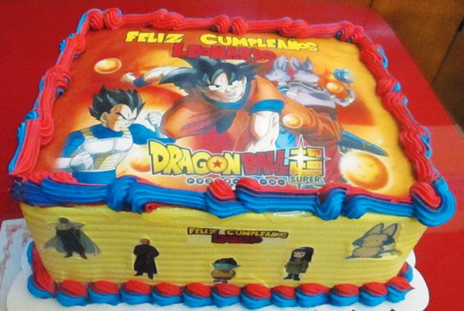 Tortas especiales para niños con fotos dragon ball