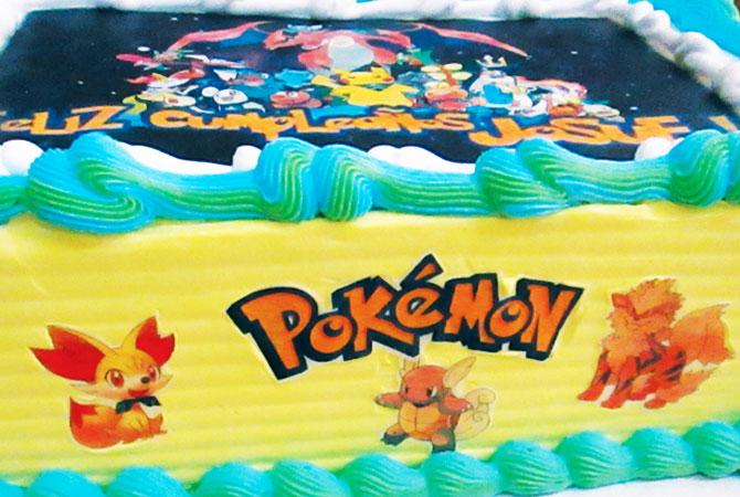 Tortas especiales para niños con fotos pokemon