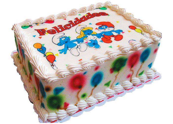 Tortas especiales de fotos pitufos para niños